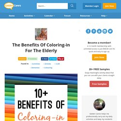 The Benefits of Coloring-in for the Elderly