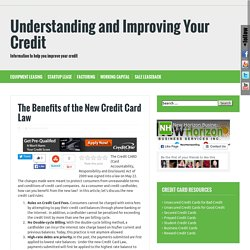 benefits of the new credit card law