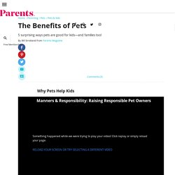 The Benefits of Pets