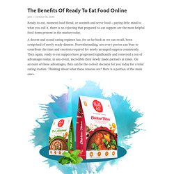 The Benefits Of Ready To Eat Food Online