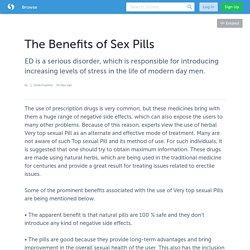 The Benefits of Sex Pills