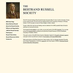 The Bertrand Russell Society