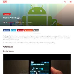makeuseof - The Best Android Apps