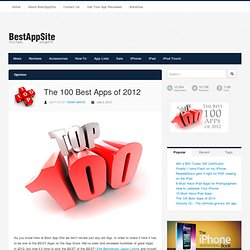 The 100 Best Apps of 2012