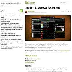 The Best Backup App for Android