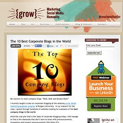 The 10 Best Corporate Blogs in the World