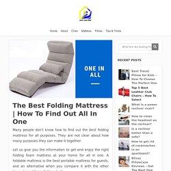The Best Folding Mattress