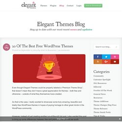 20 Of The Best Free WordPress Themes