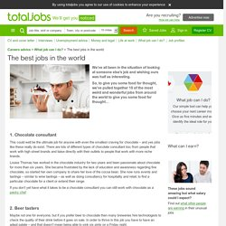 The best jobs in the world