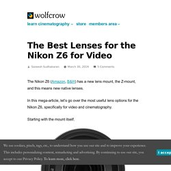 The Best Lenses for the Nikon Z6 for Video
