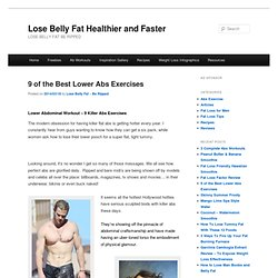 9 of the Best Lower Abs Exercises