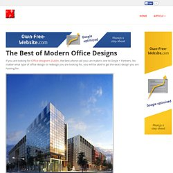 The Best of Modern Office Designs