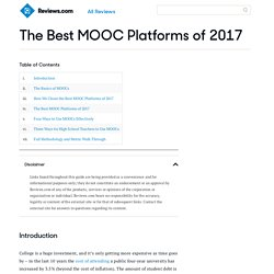The Best MOOC Platforms of 2017