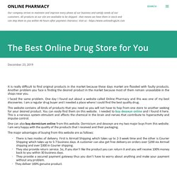 The Best Online Drug Store for You