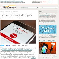 The Best Password Managers