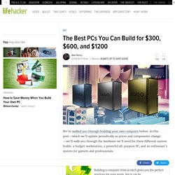 The Best PCs You Can Build for $600 and $1200