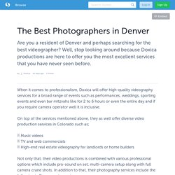 The Best Photographers in Denver