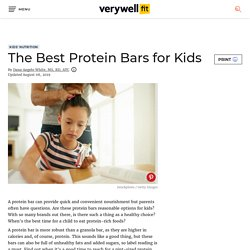 The Best Protein Bars for Kids