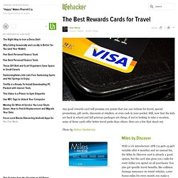 The Best Rewards Cards for Travel