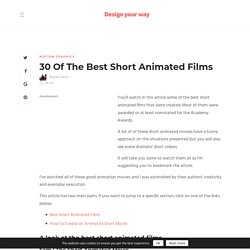 22 Of The Best Short Animated Films