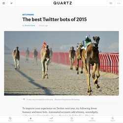 The best Twitter bots of 2015