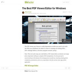 The Best PDF Viewer/Editor for Windows