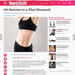 The Best Way to Get a Flat Stomach