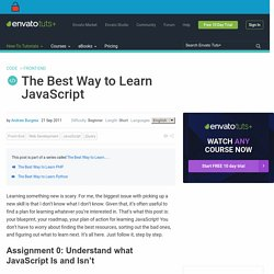 The Best Way to Learn JavaScript