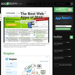The Best Web Apps of 2010