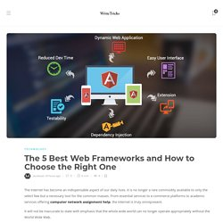 5 of The Best Web Frameworks In 2021
