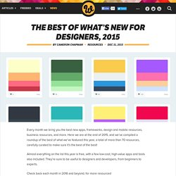 The best of what's new for designers, 2015