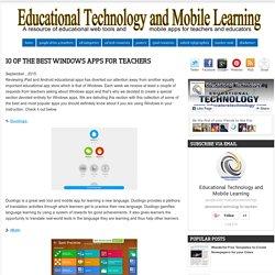 10 of The Best Windows Apps for Teachers
