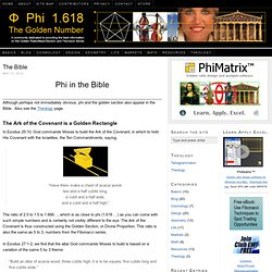 The Bible and Phi, the Golden Ratio, and Fibonacci series