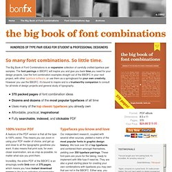The Big Book of Font Combinations : BonFX - Graphic Design and Typography Blog