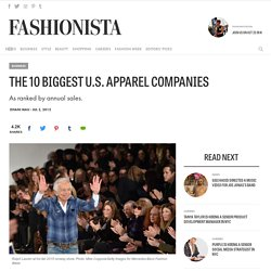The 10 Biggest U.S. Apparel Companies
