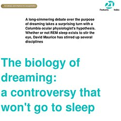 The biology of dreaming - StumbleUpon