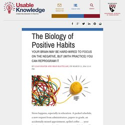 The Biology of Positive Habits