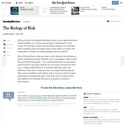 The Biology of Risk
