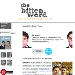 The Bitten Word: About The Bitten Word