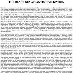 THE BLACK SEA ATLANTIS CIVILIZAT