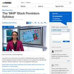 The 'MHP' Black Feminism Syllabus