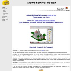 The BlockCAD Home Page