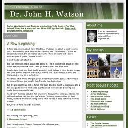 The blog of Dr. John. H. Watson