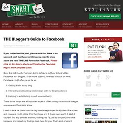 THE Blogger's Guide to Facebook