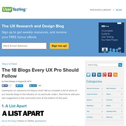 The 18 Blogs Every UX Pro Should Follow