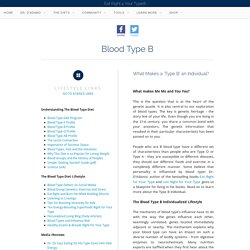 The Blood Type Diets: Blood Type B