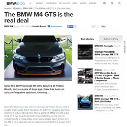 The BMW M4 GTS is the real deal
