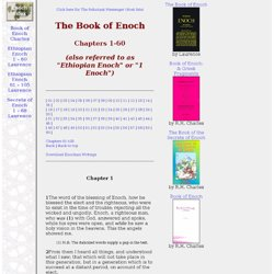 The Book of Enoch, Chapters 1-60