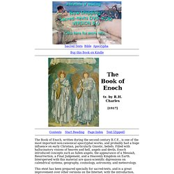 The Book of Enoch Index