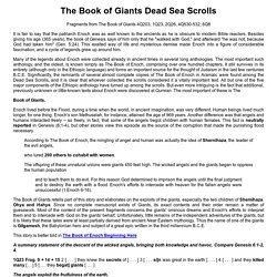 The Book of Giants Dead Sea Scrolls